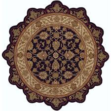 lr resources shapes black ivory 8 ft star shaped area rug