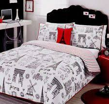 Paris ~ Ooh La La ~ Black/White/Red Single/Twin Quilt Cover