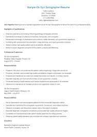 Sample Ob Gyn Sonographer Resume | Technician Resume Sample | Pinterest