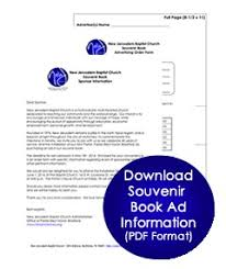 Souvenir Booklet Template Download Elegant Souvenir Ad Book Template Booklet 7 Best Catgenerators Info