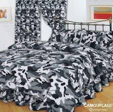 grey black army military camouflage design reversible teenage bedding duvet cover