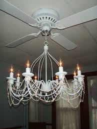 awesome combination of chandelier and ceiling fan for homes