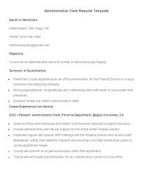 Clerical Resume Objectives Objective For Clerical Resume Newskey Info