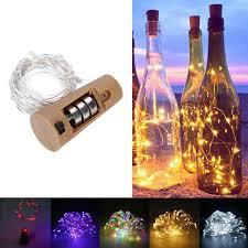 String Light Wine Bottle Us 0 98 28 Off 100cm Cork Shaped 10led Night Fairy String Light Wine Bottle Lamp Party Decor In Holiday Lighting From Lights Lighting On