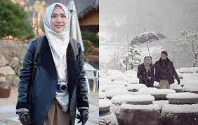 til pakai hijab di lokasi syuting