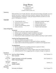 20 Formal Automotive Mechanic Resume Vntask Com