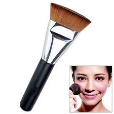 new professional women lady soft makeup flat contour blend brush for face cheeks foundation por makeup
