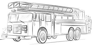 fire truck coloring page.  Page Fire Truck With Ladder Coloring Page Throughout Truck Coloring Page K