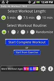 daily ab workout free this free app is a great tool for both men and women it shows you diffe routines that last from 5 to 10 minutes in length