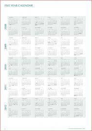 5 Year Calendar Printable 5 Year Calendar 2015 2020