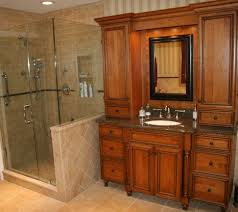 Cherry Bathroom Vanity Cabinets Remodeling NJ NYC Kitchen - Bathroom cabinet remodel