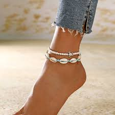 XIYANIKE <b>New Natural Shell</b> Conch Rope Anklets For Women Foot ...