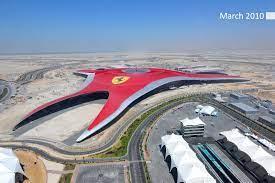 The construction started in 2008 and was finished in november 2010. Ferrari World Abu Dhabi Ferrari World Abu Dhabi Ferrari World Abu Dhabi