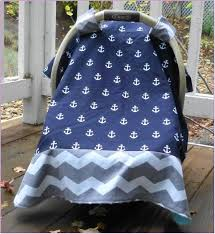 blue minky dot car seat cover