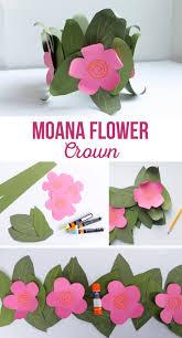 moana paper flower crown