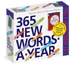 Word Year Calendar 365 New Words A Year Calendar 2017 Amazon Co Uk Merriam Webster