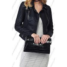 women long sleeve zipper closure motorcycle faux leather jacket americasuits com