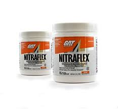 gat clinically tested nitraflex testosterone enhancing pre workout pack of two 30 servings orange