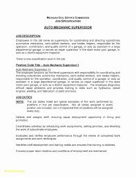 Industrial Maintenance Mechanic Resume Template Luxury Auto Mechanic