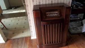 Cabinet Record Player Restored Philco Console Radio Record Player Youtube