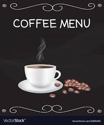 coffee cup on blackboard vector image