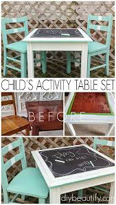 repurposed furniture for kids. Create An Activity Set From Mismatched Pieces | Diy Beautify Repurposed Furniture For Kids O