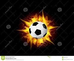 Vector Soccer Ball In Fire Flame Stock Vector - Image: 33264182
