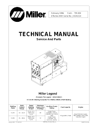 miller aead 200le wiring diagram miller image miller electric legend aead 200 le user manual 68 pages on miller aead 200le wiring diagram