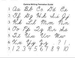 Cursive Letters Chart Cursive Letters A Z