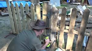 wood picket fence gate. Making A Pallet Wood Picket Fence Gate E