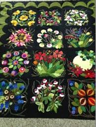 Wool applique PATTERNS &/or KITS for ALL 24 6x6 inch blocks of ... & Wool applique and embroidered. LOVE! Adamdwight.com