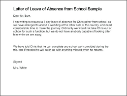 Letter For Absence Letter Of Absence From School Template Absent Note For School Format