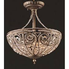 elk lighting elizabethan semi flush ceiling light