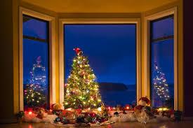 Christmas Tree In Window Stock Photo  Getty ImagesChristmas Tree In Window