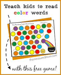 Teach Kids To Read Color Words With This Free Rainbow Sight Word