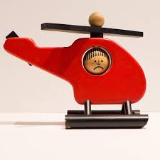 bauhaus vintage swiss toy helicopter by naef for