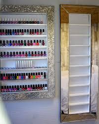 mirror frame nail polish rack e saving style great for small