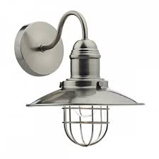 vintage fisherman wall light in antique chrome