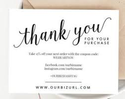 Instant Business Thank You Cards Editable Pdf Printable Packaging