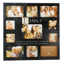 Large family collage photo frames 65000 personalized photo frames state  black mdf collage multi for family