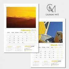 Calender Design Template Kreatif Free Wall Calendar Design Template 2019 Psd Calendar