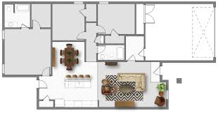 floor plan furniture layout. The Layout Above Features An L-shaped Couch With Additional Chair For  Extra Seating. It Also Has A Coffee Table And Side Table. Floor Plan Furniture