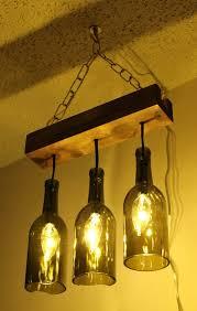 wine bottle light fixture diy