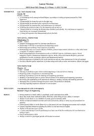 ndt resume samples ndt inspector resume samples velvet jobs