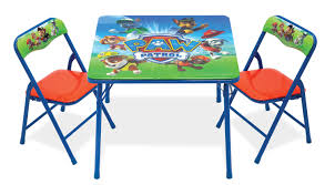 paw patrol activity table and 2 chair set