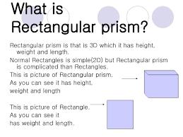 What Is Prism Rectangular Prism