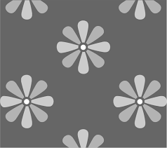 large daisy repeat pattern stencil