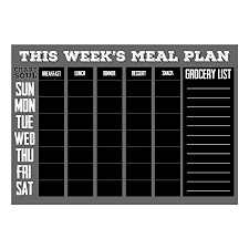 Meal Prep Chart Chart And Soul Magnetic Meal Planning Calendar And Grocery