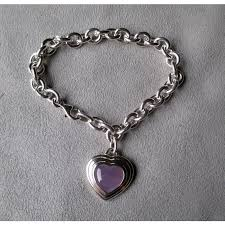 sterling silver and lavender jade charm style bracelet diamond antiques ruby lane