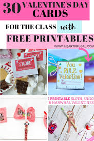 30 Valentine's Day Cards With Free Printables for the Class ...